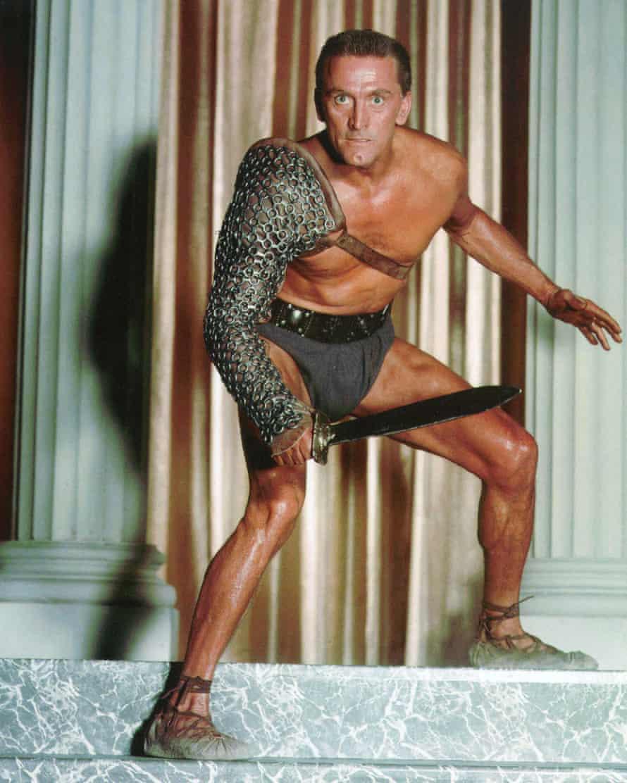 Douglas as Spartacus in 1960