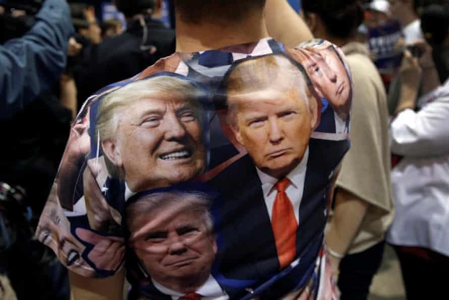 A Trump supporter attends the campaign rally in Reno, Nevada.