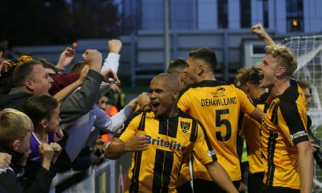 Maidstone's revival after going bust in the Football League offers Bury hope