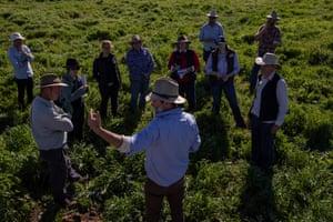 Arnott speaks at a two-day biodynamics workshop on his farm in Boorowa, south-west of Sydney.