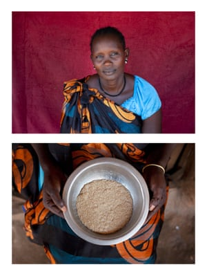 Dukan in a protection of civilians camp in Juba, South Sudan. Also seen is a bowl of Dukan's food
