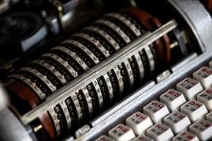 A Soviet version of the Enigma code cipher machine known as the 'Fialka'