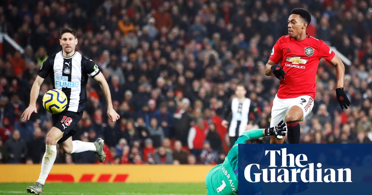 Anthony Martial at double for Manchester United in Newcastle rout