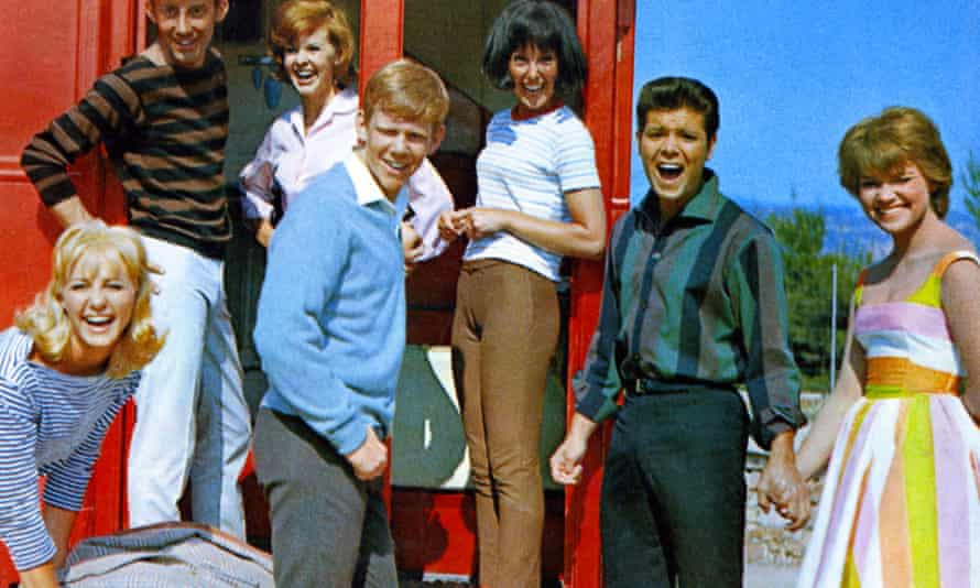 Una Stubbs, centre, with Cliff Richard, second from right, in Summer Holiday, 1963.