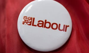 A Labour supporter's badge