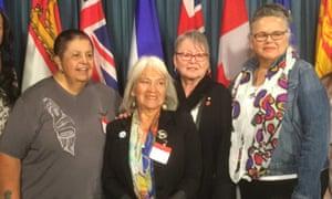 Sharon McIvor, Jeannette Corbiere Lavel, Sandra Lovelace-Nicholas and Lynn Gehl, who led the struggle to end the discrimination.