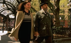 Connection … Constanza Romero and August Wilson in 1991.