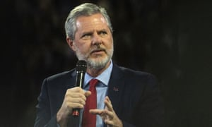 Jerry Falwell Jr at Liberty University in Lynchburg, Virginia, on 13 November 2019.