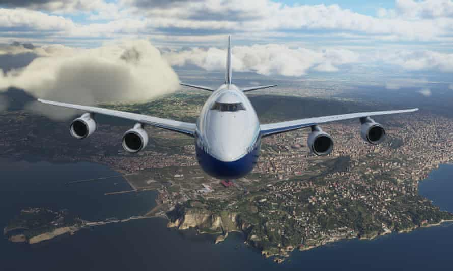 Liberating … a 747 over Naples in Flight Simulator.