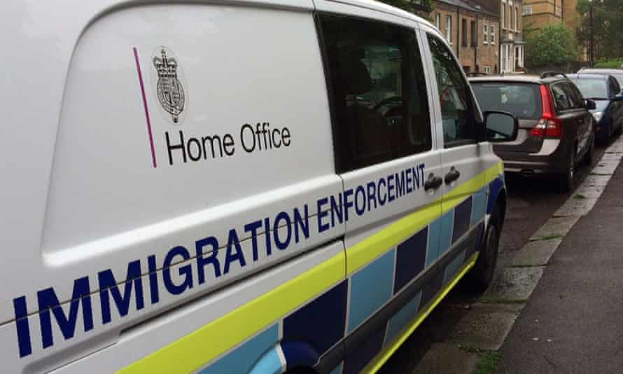 A British government Home Office van parked in west London, Britain in 2016
