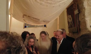 The wedding of Giles Fraser and Lynn in Tel Aviv this week