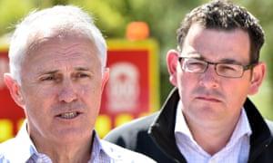 Malcolm Turnbull (left) and Daniel Andrews