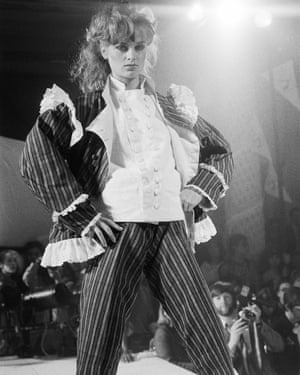 Vivienne Westwood/ World's End Fashion Show at Olympia, London in 1981.