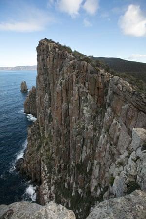 The dolerite cliffs.