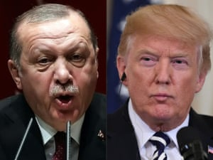 The presidents of Turkey and the US