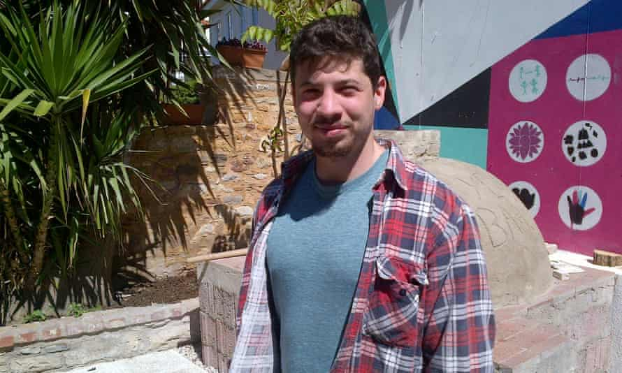 British volunteer Nick Millet who has helped found a refugee school on Chios.