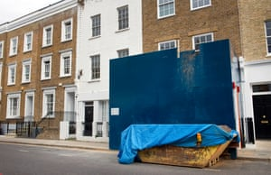 A basement conversion taking place in London's Holland Park.