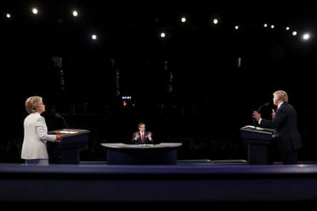 Wallace moderates the third 2016 presidential debate, in Las Vegas.