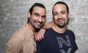 Hamiltons past and present: Muñoz and Lin-Manuel Miranda.