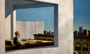 Office in a Small City by Edward Hopper, 1953.