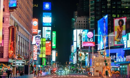 Neon signs and billboards in Times Square, New York