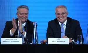 Prime minister Scott Morrison and Finance minister Mathias Cormann