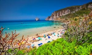 Spiaggia di Masua beach on Sardinia's Costa Verde.
