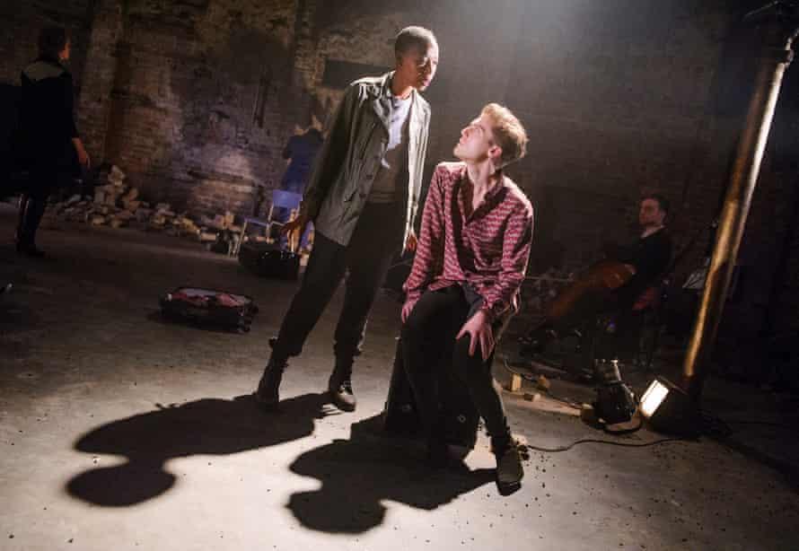 Dumezweni with Jack Farthing in Carmen Disruption by Simon Stephens at the Almeida.