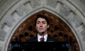 Canada's prime minister Justin Trudeau takes part in a news conference in Ottawa, Ontario, Canada Thursday.