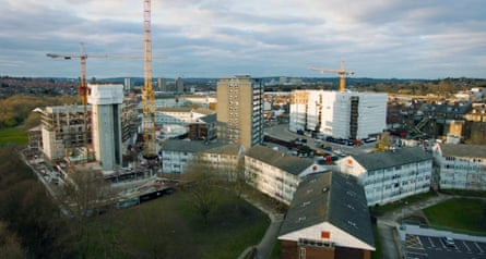 'A way of getting things done' … New buildings take shape at West Hendon, alongside old ones that will eventually be demolished.