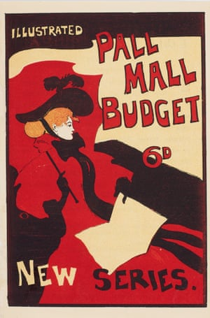 A poster from 1894 designed by Maurice Greiffenhagen for the Pall Mall Budget, a weekly magazine.