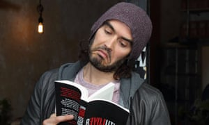 Russell Brand at the opening of the Trew Era cafe in Hackney.