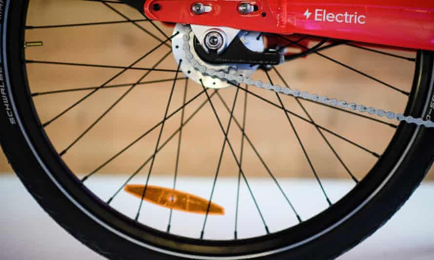 wheel of a Jump bike