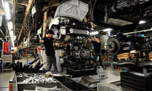 Workers at Nissan working on the Qashqai in Sunderland.