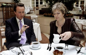 Theresa May gave her backing to leadership contender David Cameron in 2005.