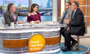 Piers Morgan, Susanna Reid, Josh Parry and Dr Michael Davidson on Good Morning Britain, 5 September 2017.