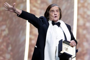 French actor Jean-Pierre Léaud receives the honorary Palme d'Or