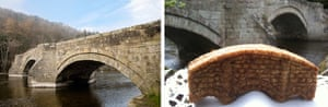 The old Pooley Bridge … and its ginger biscuit tribute.