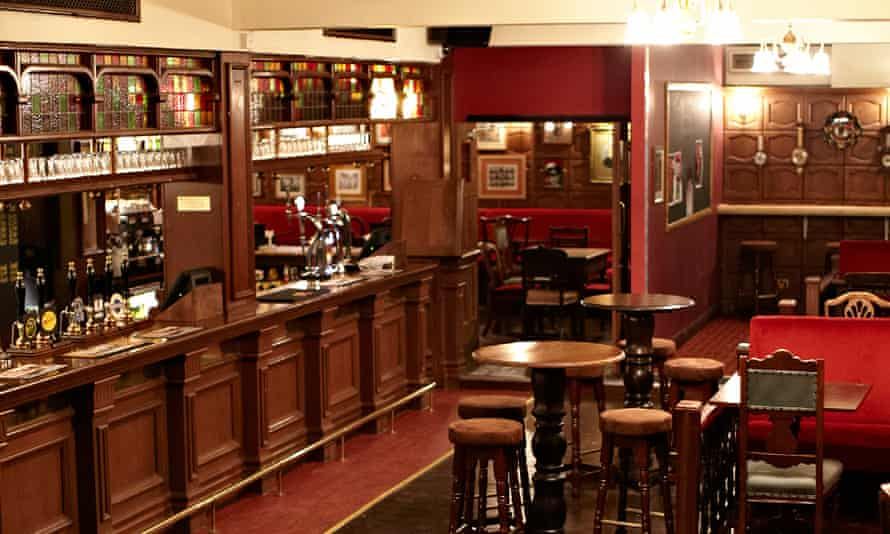 Interior shot of the bar area of the east London pub the Sebright Arms