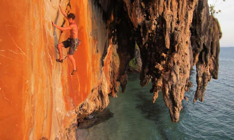 Rock and Sun rock climbing in Thailand holiday