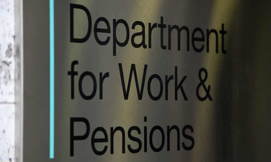 The signage for the Department of Work & Pensions