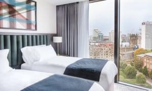 A bedroom at Hotel Indigo Manchester