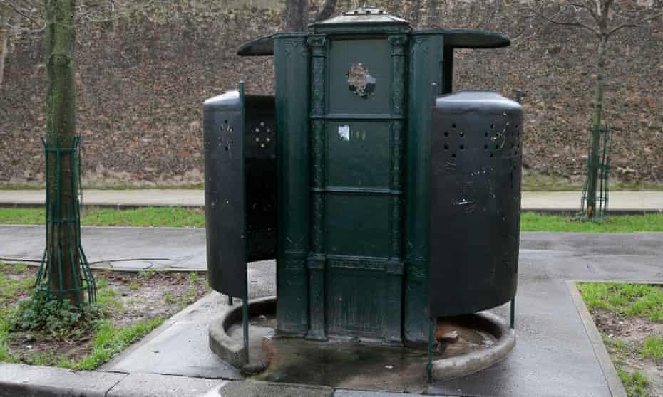 Paris's last remaining vespasienne urinal.