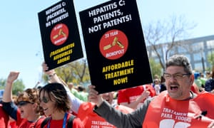 last month over access to hepatitis C treatments