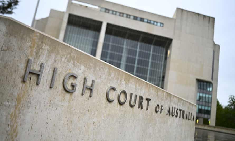File photo of the high court in Canberra
