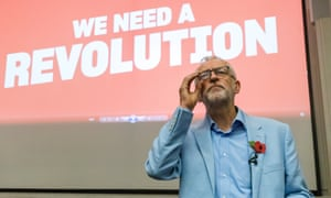 Jeremy Corbyn delivers a speech at a member mobilisation rally and local campaign launch (climate crisis and Green Industrial Revolution) event at the University of Gloucester