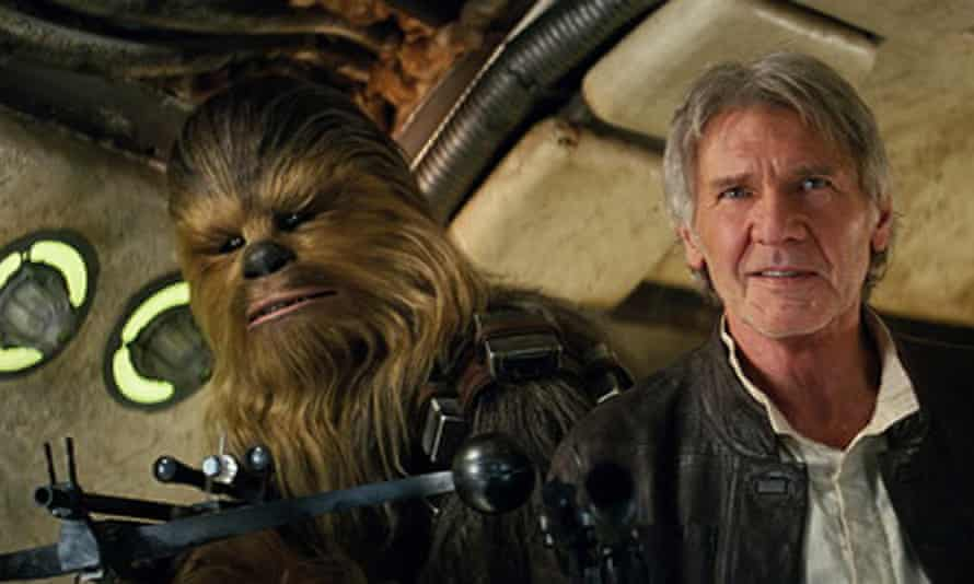 Homecoming … Harrison Ford in Star Wars: The Force Awakens.