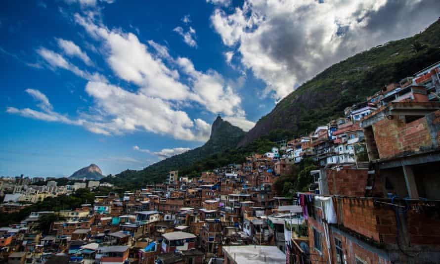 The Santa Marta favela in the Botafogo area of Rio de Janeiro.