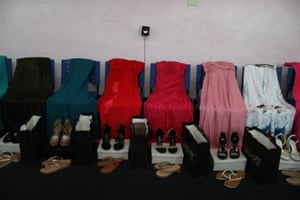 Dresses on chairs