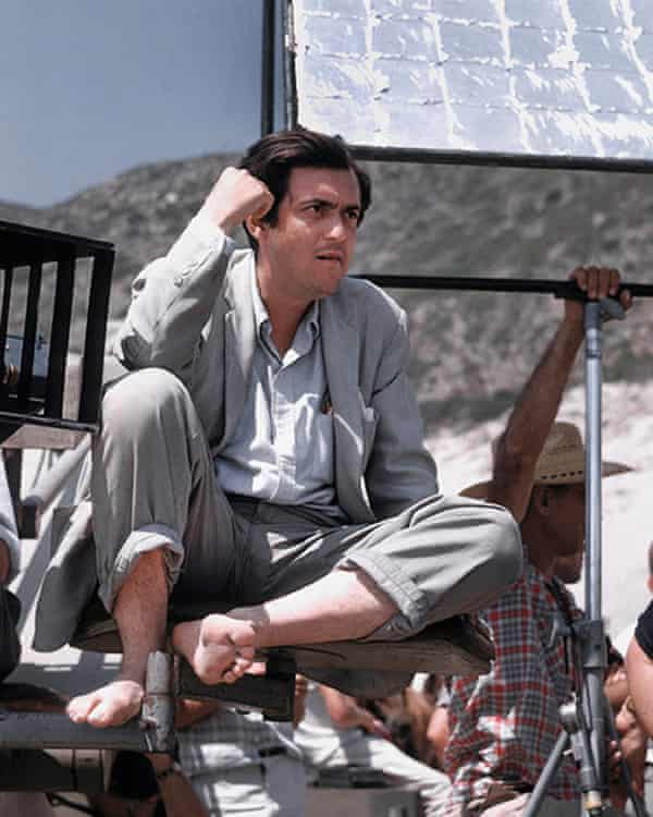 Kubrick on the set of Spartacus.